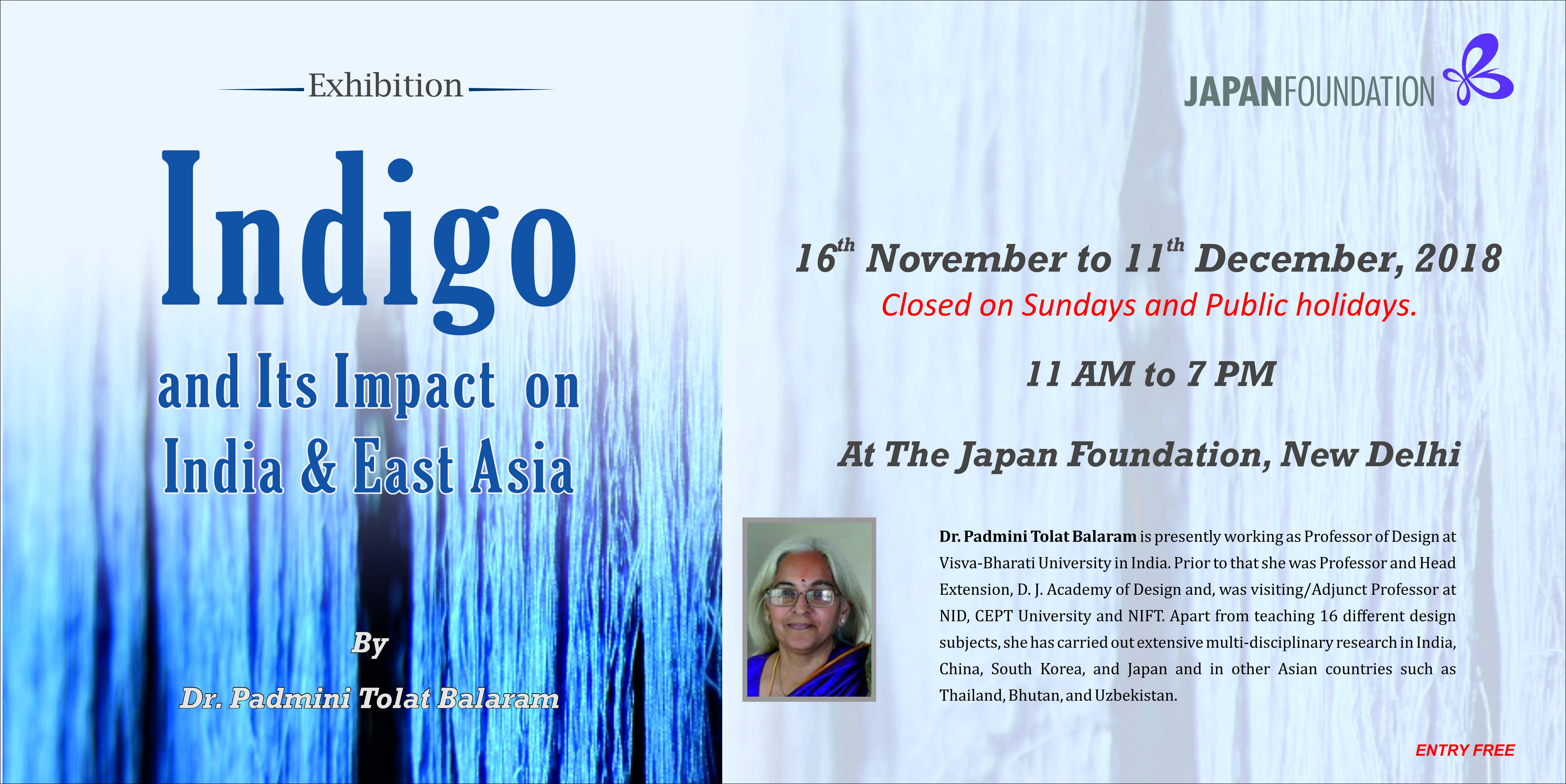 Exhibition: Indigo and Its Impact on India & East Asia