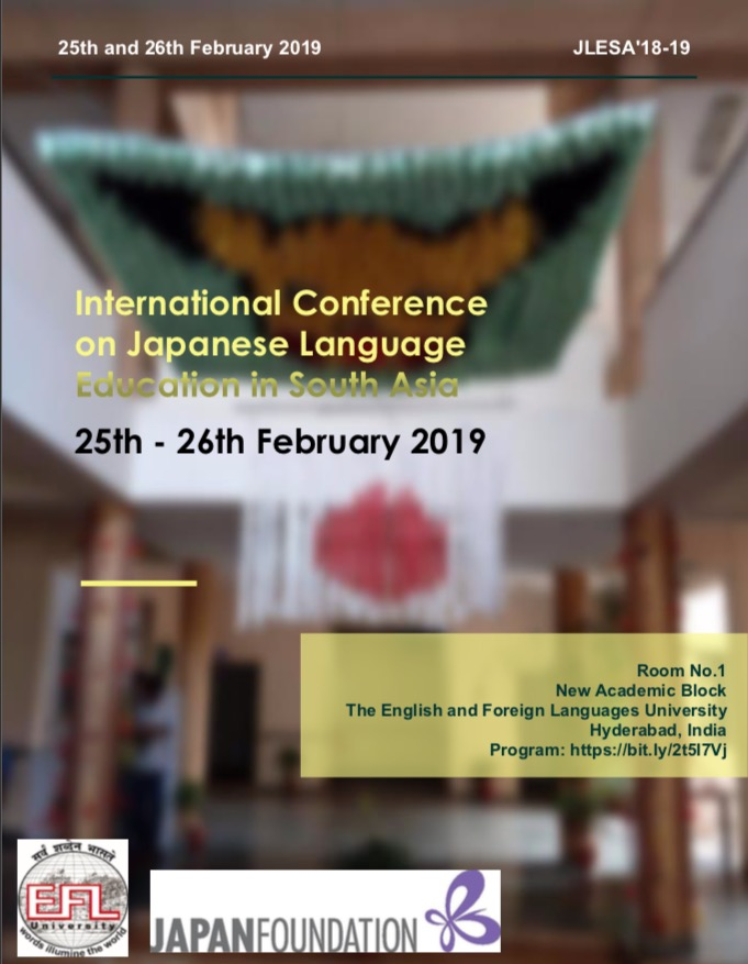 International Conference on Japanese Language Education in South Asia
