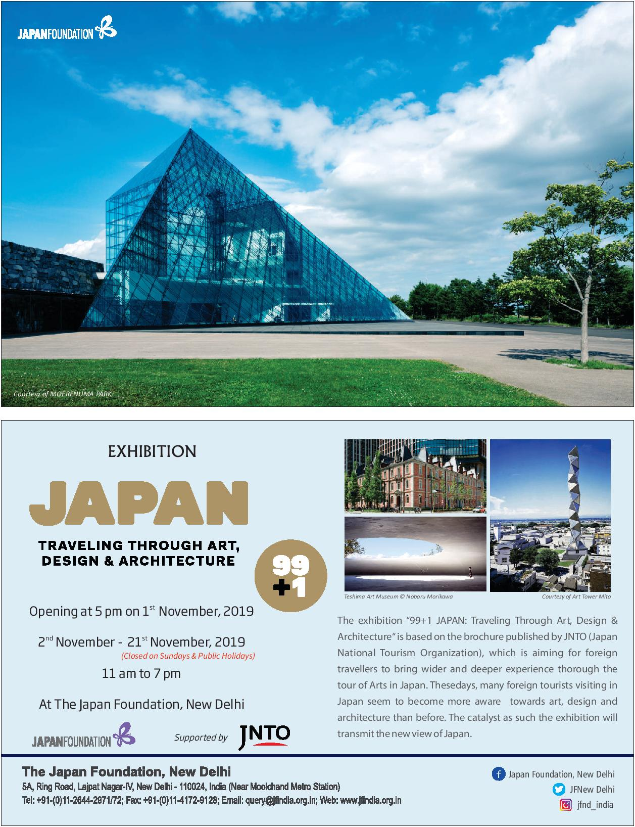 Exhibition: Japan Travelling through art,design and architecture