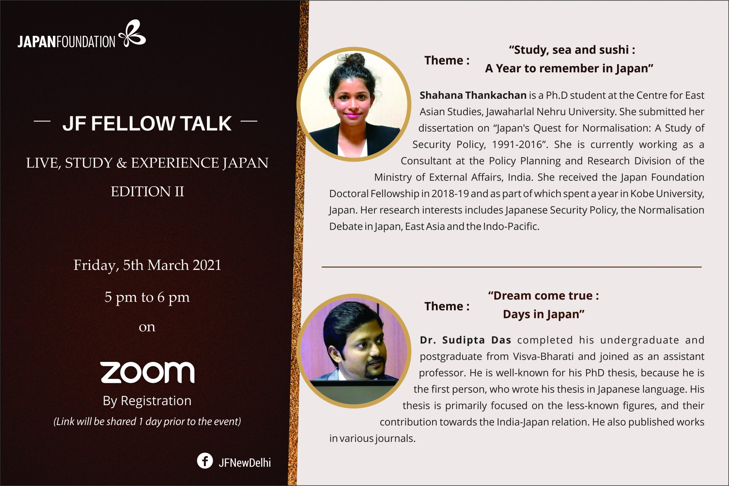 JF FELLOW TALK- Live, Study and Experience Japan: Edition II